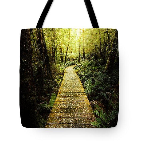 Lush Green Rainforest Walk Tote Bag