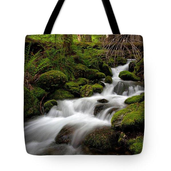 Lush Stream Tote Bag by Mike Reid
