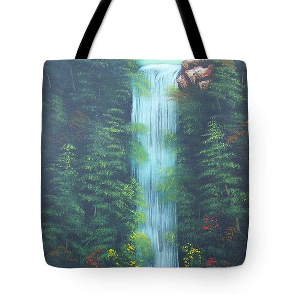 Lush Waterfall Tote Bag