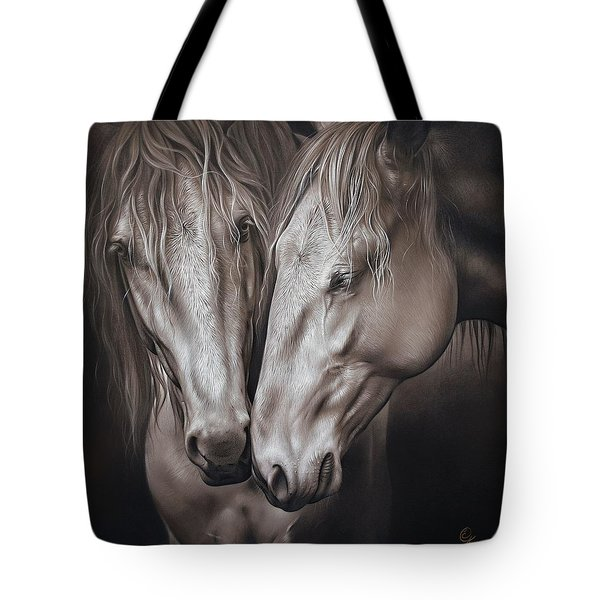 Lusitano Pair Tote Bag by Elena Kolotusha