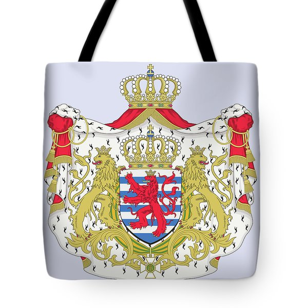 Tote Bag featuring the drawing Luxembourg Coat Of Arms by Movie Poster Prints