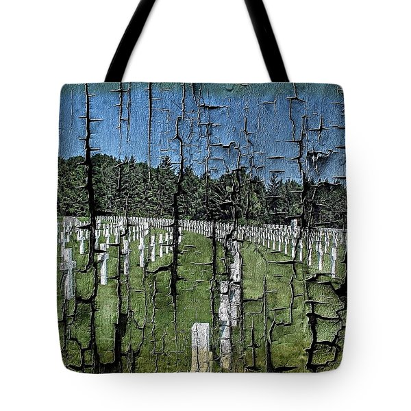 Tote Bag featuring the photograph Luxembourg Wwii Memorial Cemetery by Joseph Hendrix