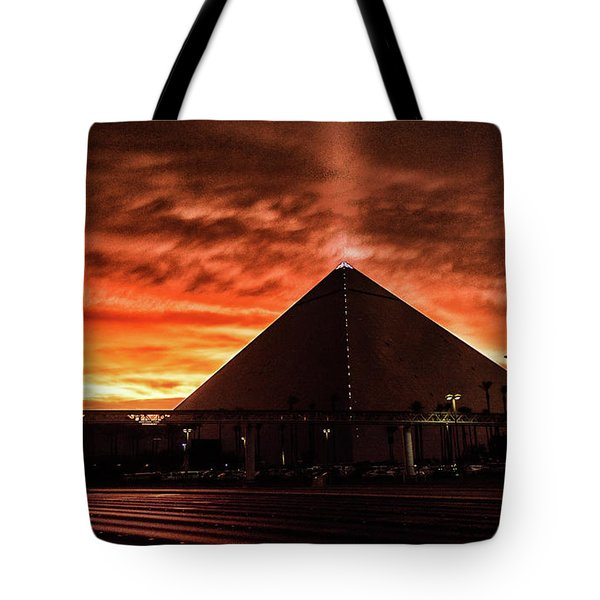 Tote Bag featuring the photograph Luxor Las Vegas by Michael Rogers