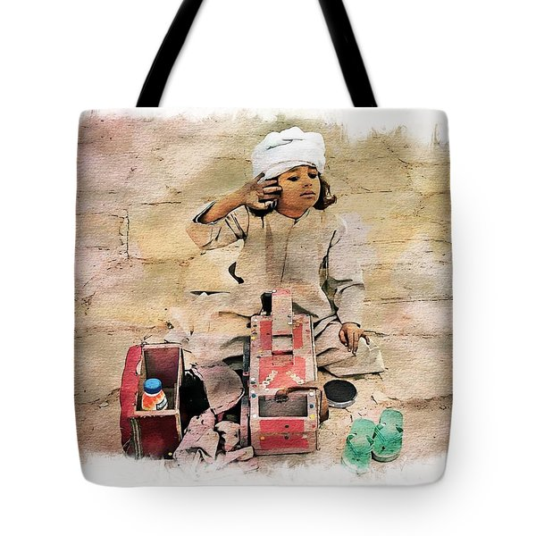 Luxor Shoeshine Girl Tote Bag by Joseph Hendrix