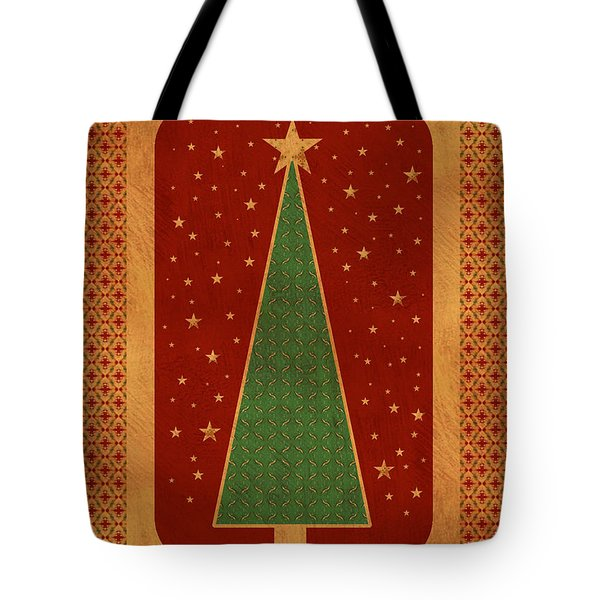 Luxurious Christmas Card Tote Bag