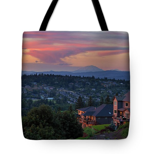 Luxury Homes In Happy Valley Oregon Tote Bag by David Gn