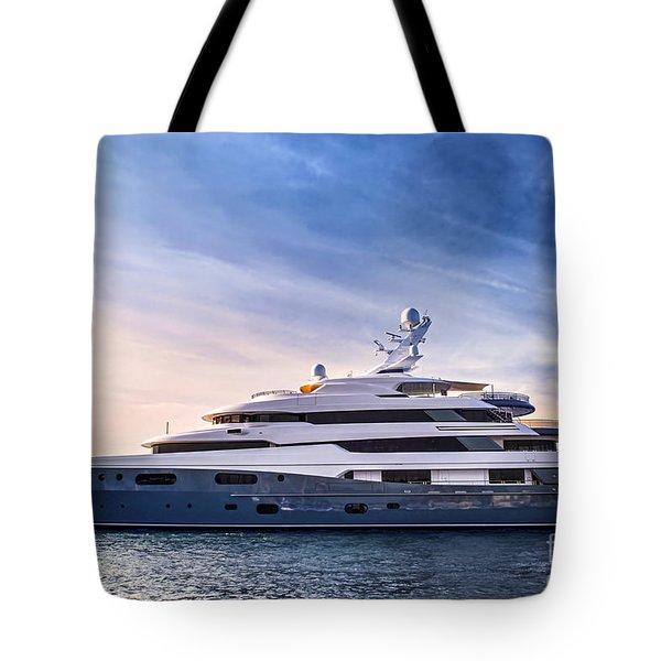 Luxury Yacht Tote Bag
