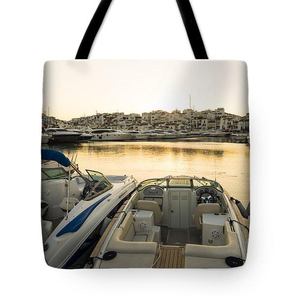 Luxury Yachts Puerto Banus Tote Bag