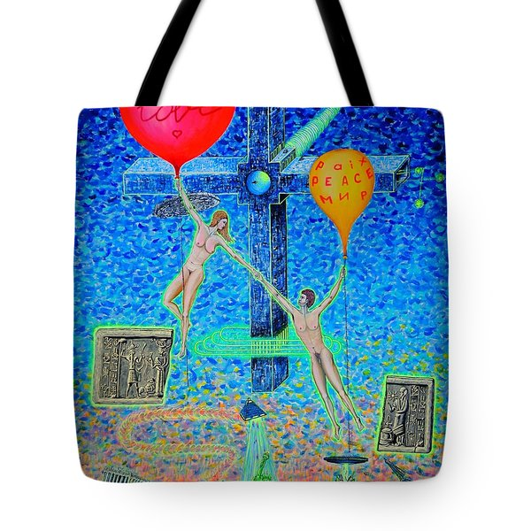 Tote Bag featuring the painting L.v P. by Viktor Lazarev