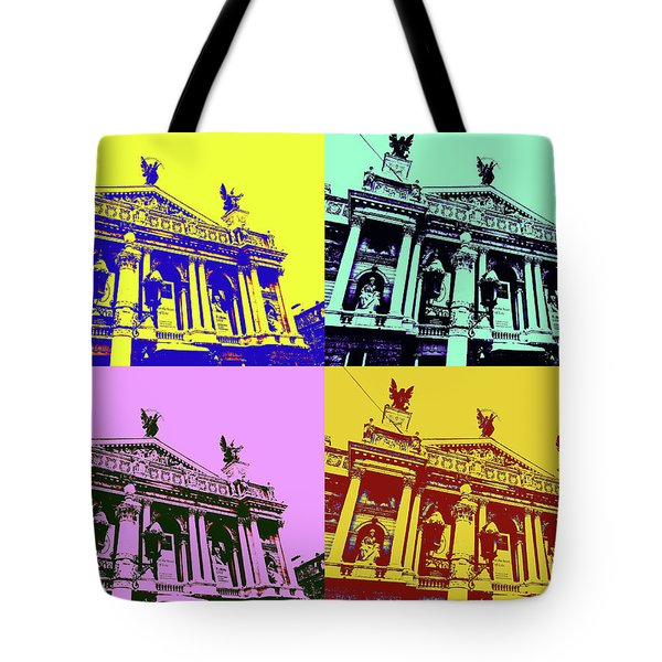Lviv Opera House Tote Bag by Tetyana Kokhanets