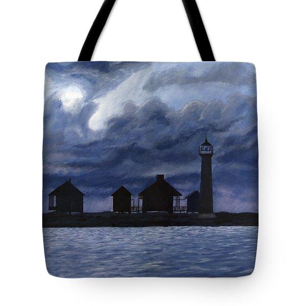 Lydia Ann Lighthouse Tote Bag