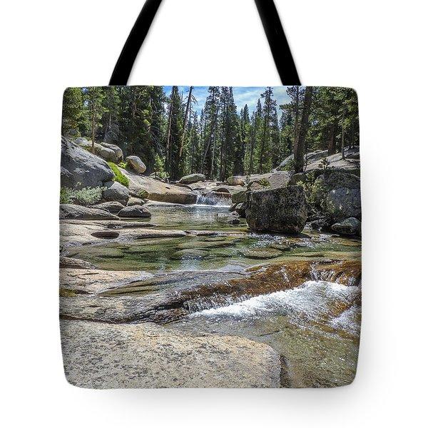 Lyell Fork Tuolomne River Yosemite National Park Tote Bag