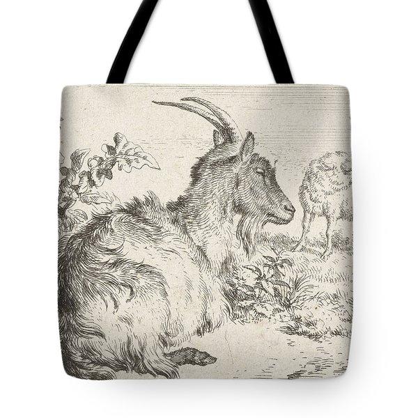 Lying Goat Tote Bag