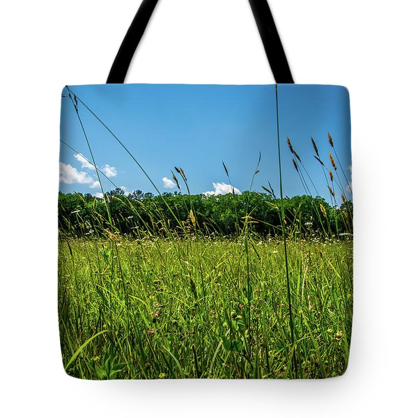 Lying In The Grass Tote Bag