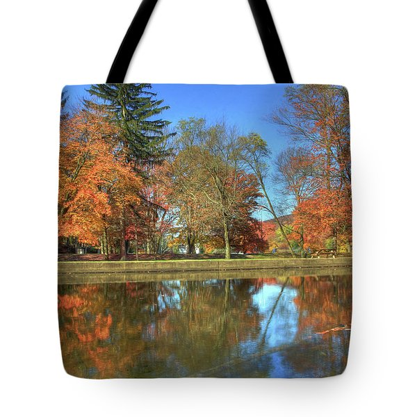 Tote Bag featuring the photograph Lykens Glen Reflections by Lori Deiter