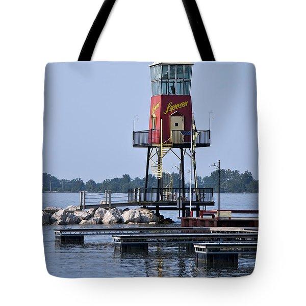 Lyman Harbor Lighthouse Tote Bag