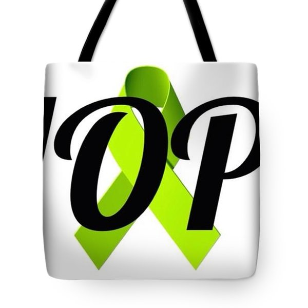 Lyme Awareness Ribbon Of Hope Tote Bag by Laura Michelle Corbin