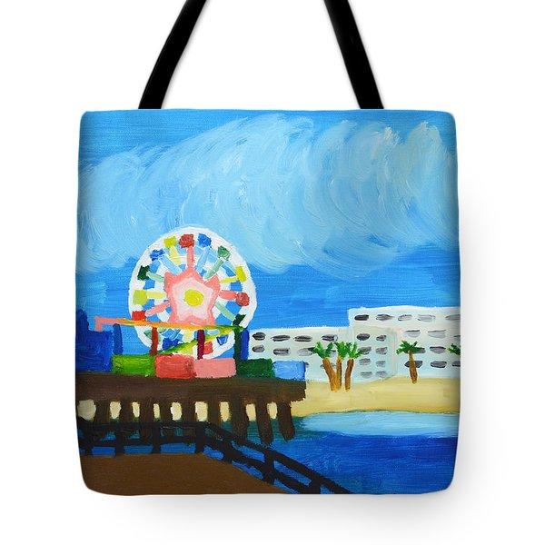 Lyndas Ferris Wheel Tote Bag