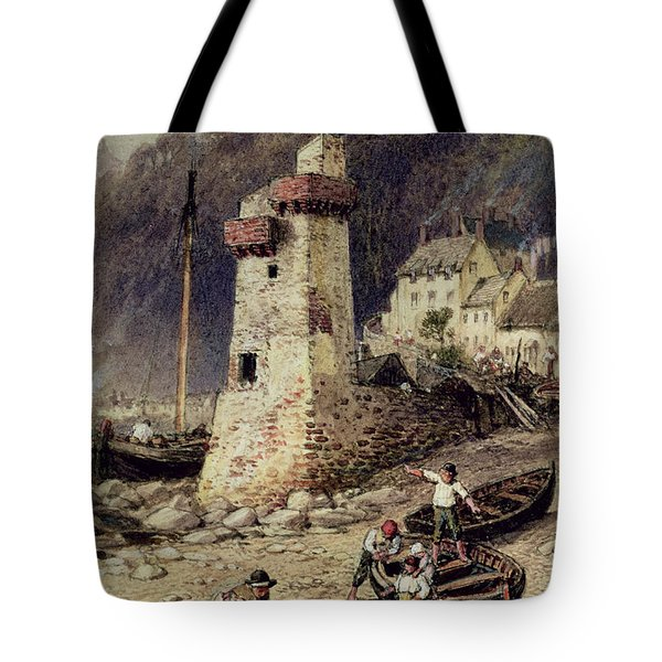 Lynmouth In Devonshire Tote Bag by Myles Birket Foster