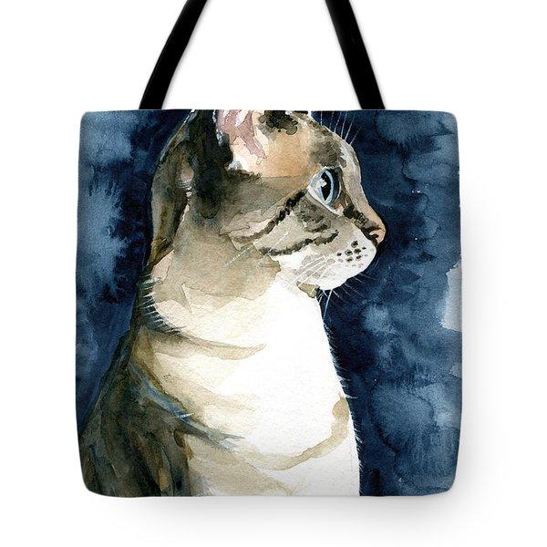 Lynx Point Cat Portrait Tote Bag