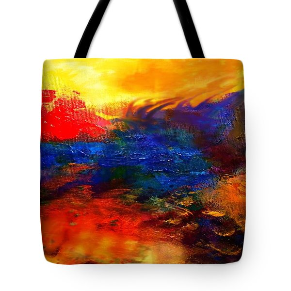 Tote Bag featuring the digital art Lyrical Landscape by Diana Riukas