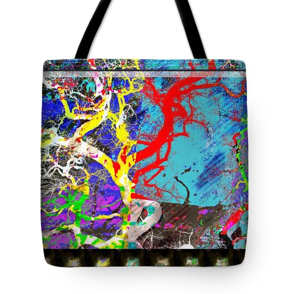 Tote Bag featuring the digital art Lyrical Tree #2 by Diana Riukas