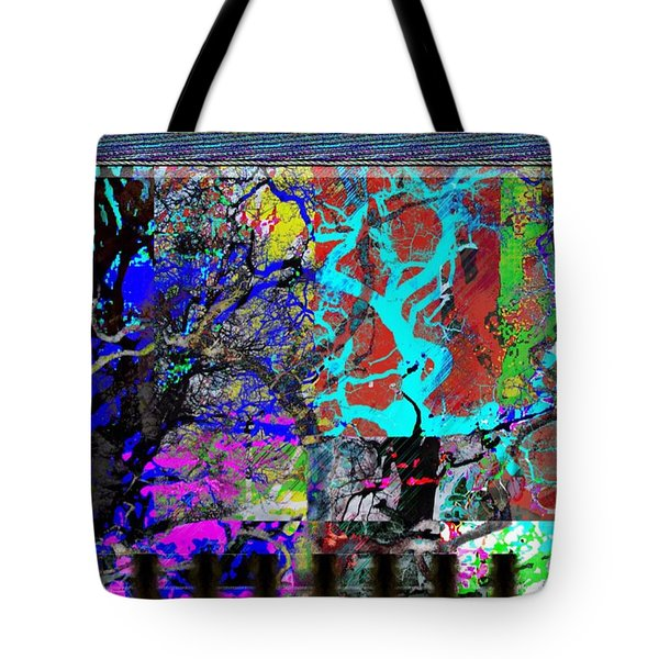 Tote Bag featuring the digital art Lyrical Tree #3 by Diana Riukas
