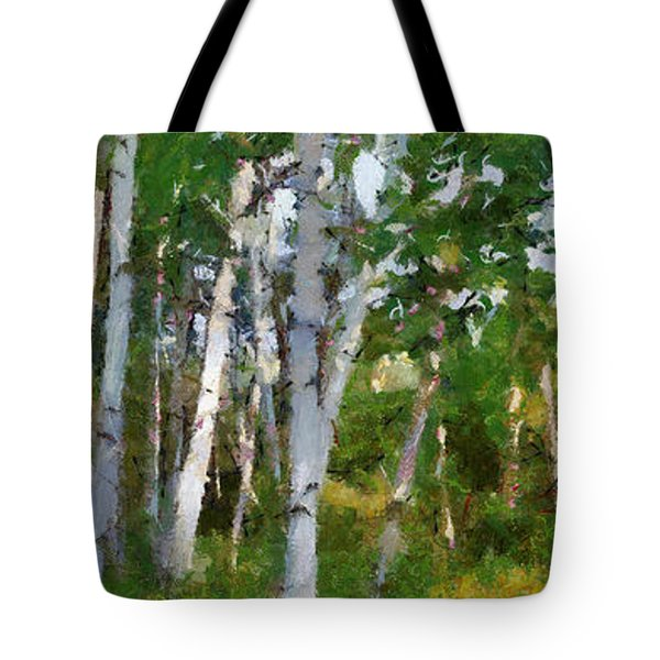 M-22 Birches Tote Bag