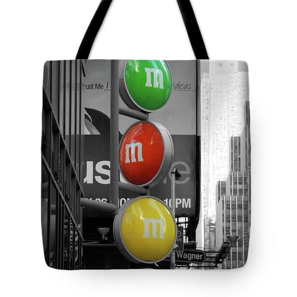 M And Ms In New York City Tote Bag