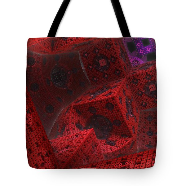 Tote Bag featuring the digital art M Cubed by Lyle Hatch