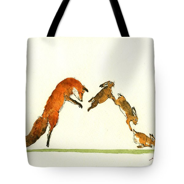 M Letter Woodland Animals Tote Bag
