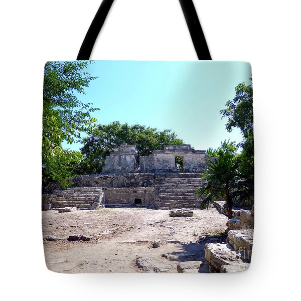 Tote Bag featuring the photograph M Ruin by Francesca Mackenney