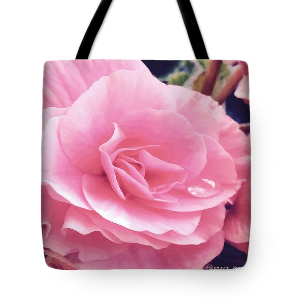 M Shades Of Pink Flowers Collection No. P64 Tote Bag