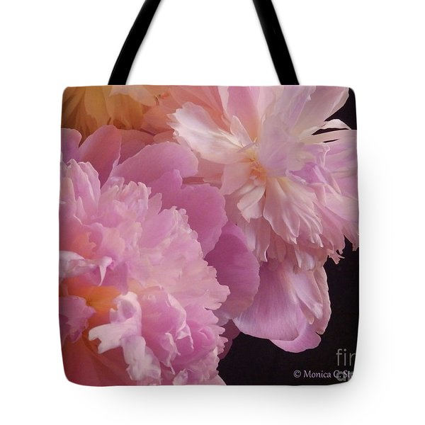 M Shades Of Pink Flowers Collection No. P66 Tote Bag
