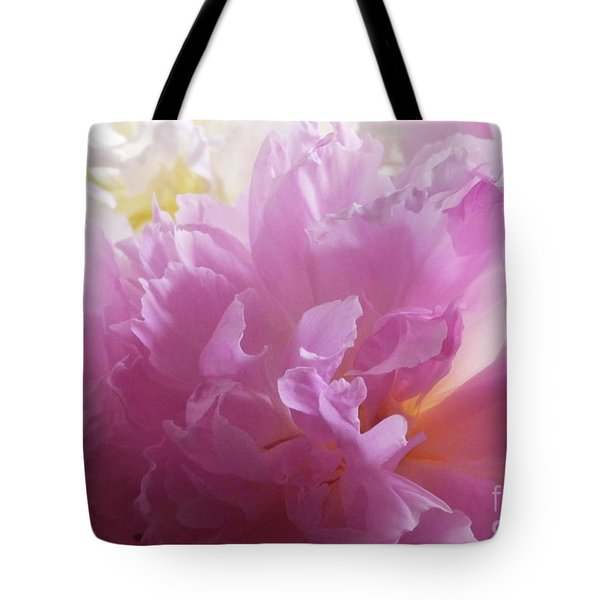 M Shades Of Pink Flowers Collection No. P72 Tote Bag