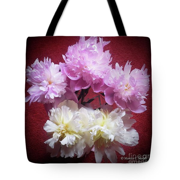M Shades Of Pink Flowers Collection No. P73 Tote Bag