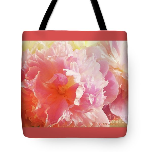 M Shades Of Pink Flowers Collection No. P74 Tote Bag