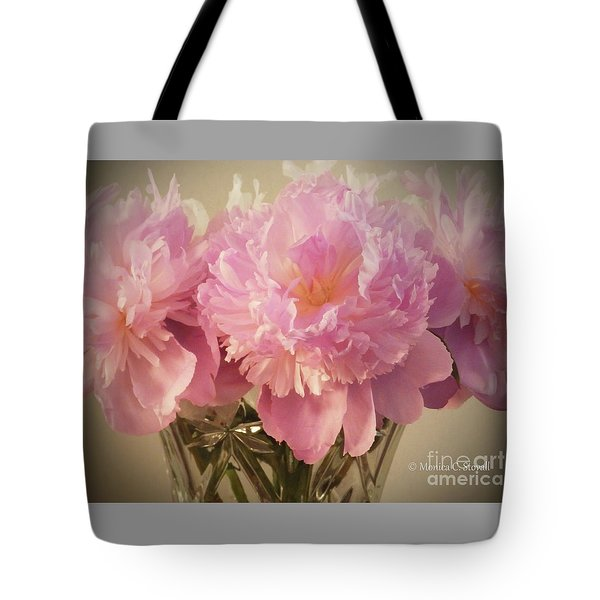 M Shades Of Pink Flowers Collection No. P75 Tote Bag