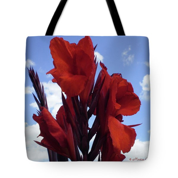 M Shades Of Red Flowers Collection No. R16 Tote Bag