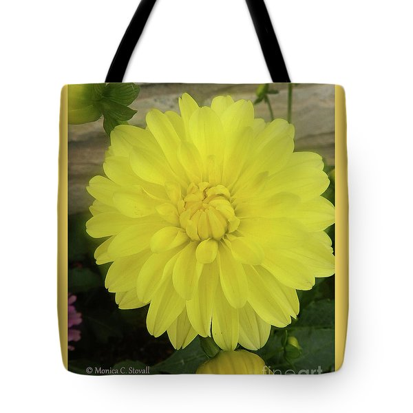 M Shades Of Yellow Flowers Collection No. Y90 Tote Bag