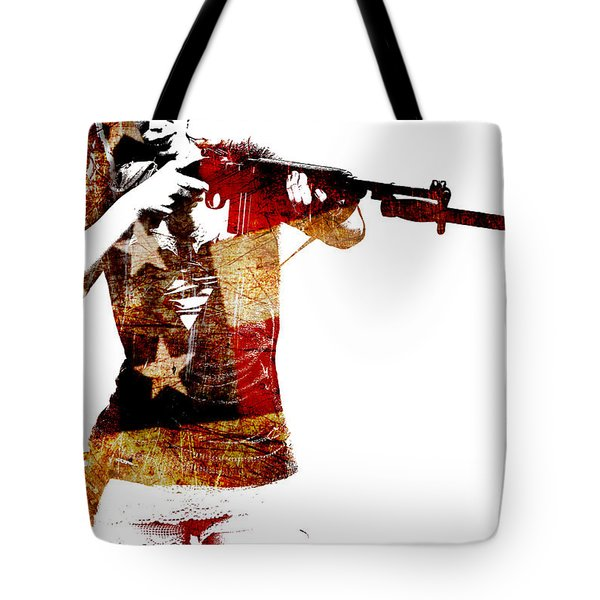 M1 Carbine And Bayonet Tote Bag