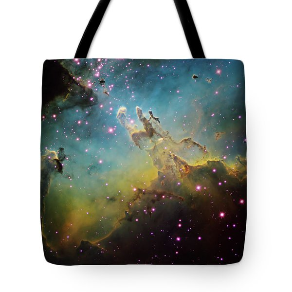 M16 The Eagle Nebula Tote Bag by Ken Crawford