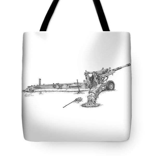 M198 Howitzer - Standard Size Prints Tote Bag