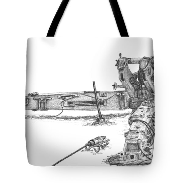 M198 Howitzer - Natural Sized Prints Tote Bag