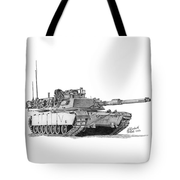 M1a1 C Company Commander Tank Tote Bag