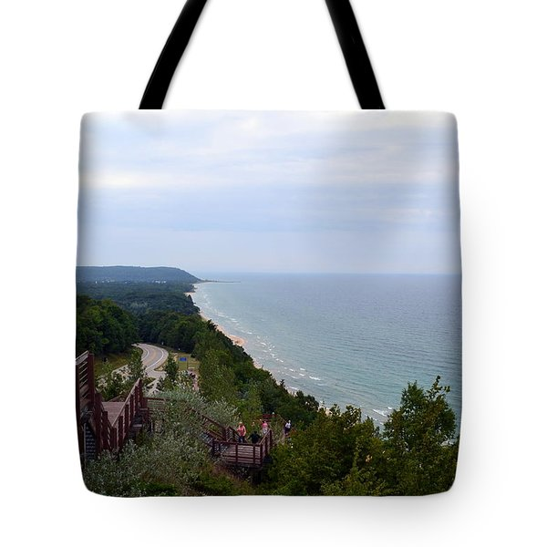 M22 Scenic Lake Michigan Overlook  Tote Bag