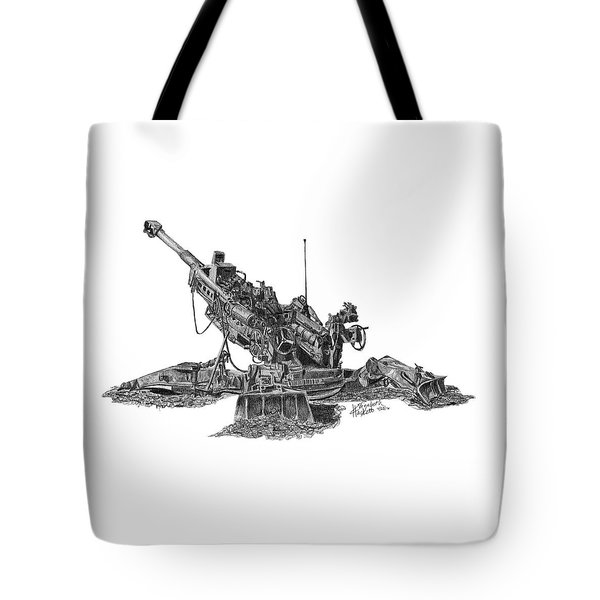 M777a1 Howitzer Tote Bag