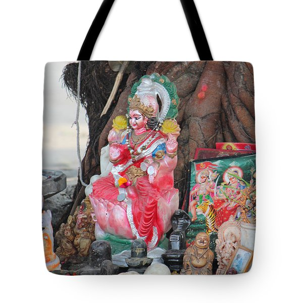 Ma Durga Tree Temple, Haridwar Tote Bag