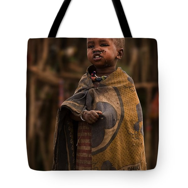 Maasai Boy Tote Bag by Adam Romanowicz