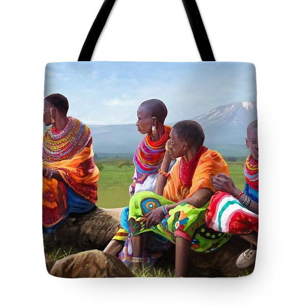 Maasai Women Tote Bag